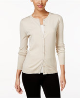 August Silk Crew-Neck Cardigan