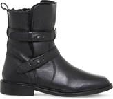 Office Loaded multi-strap leather biker boots