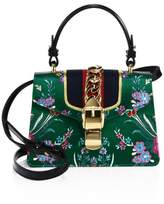 Gucci Mini Sylvie Floral Jacquard Top Handle Bag