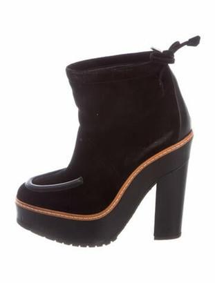Hermes Suede Boots Black