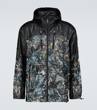 and wander Printed technical-fabric jacket