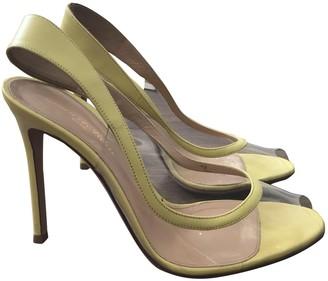 Gianvito Rossi Yellow Plastic Heels