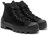 Acne Studios Daniel Suede-panelled Canvas Boots - Black