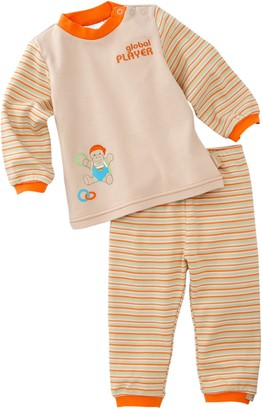 Sterntaler 75934 Homedress Sammy Jersey with Iron-On Motif Turtle and Embroidery Motif Colour No. 54 Sand - Beige - 9-12 Months