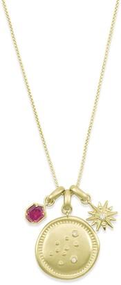 Kendra Scott 14K Gold Plated Aquarius Charm Necklace