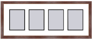 Frames By Mail Mahogany Collage Picture Frame - 4 openings for 5X7 photos