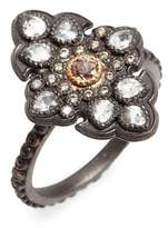 Armenta Women's Old World Diamond Pave Scroll Ring