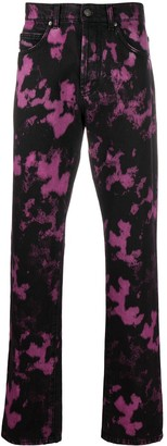 MSGM Purple Acid-Wash Jeans