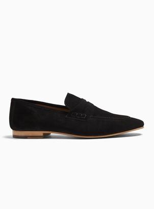 Topman Black Suede Colburn Loafers