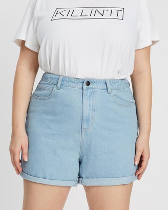 Mika Muse Hattie High-Waisted Roll Hem Shorts