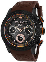 Mulco MW51962035 Men's Nuit Multi-Function Brown Silicone Black Dial