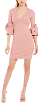 Susana Monaco Tied Elbow Frill Shift Dress