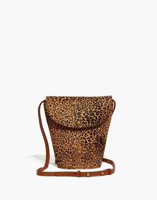 Madewell The Memphis Crossbody Bag in Mini Leopard Calf Hair
