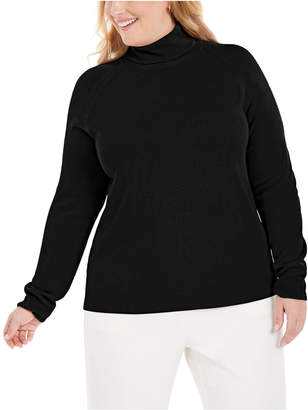 Karen Scott Plus Size Turtleneck Luxsoft Sweater
