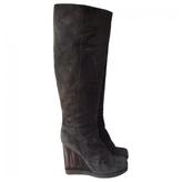 Chloé Grey Suede Boots
