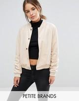 Vero Moda Petite Velvet Bomber Jacket