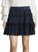 Alexis Antonia Polka Dot Eyelet Skirt