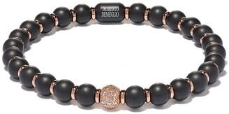 Roberto Demeglio 18kt rose gold, diamond and black ceramic Sfera bracelet
