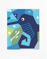 Nurseryworks Nursery Works Oceanography Cubist Art Print - Seahorse