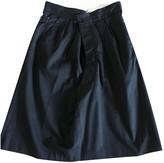 Anne Valerie Hash Black Cotton Skirt for Women
