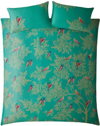 Sara Miller Green Birds Duvet Set