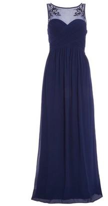 Dorothy Perkins Womens *Quiz Navy Chiffon Sweetheart Dress