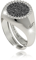 Rebecca R-Zero Rhodium Over Bronze Ring w/Stones