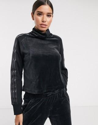 adidas Sid long sleeve top in black