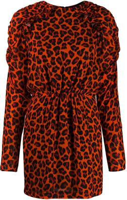 MSGM leopard-print mini dress
