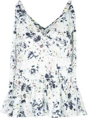 Jason Wu Tie-Shoulder Printed Blouse