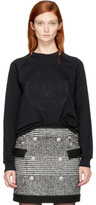 Balmain Black Embossed Logo Sweatshirt