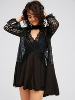 Free People Secret Origins Pieced Lace Tunic