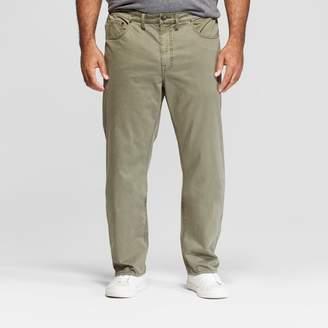 Men's Tall Slim Straight Fit Twill Pants - Goodfellow & Co Moss