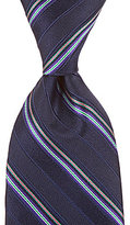 Roundtree & Yorke Trademark New York Stripe Traditional Silk Tie