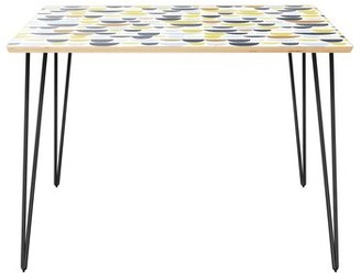 """Wrought Studioâ""""¢ Cantin Dining Table Wrought Studioa Table Top Color: Natural, Table Base Color: Black"""