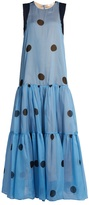 Natasha Zinko Polka-dot print silk-chiffon dress