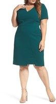 Vince Camuto Plus Size Women's Scuba Crepe Sheath Dress