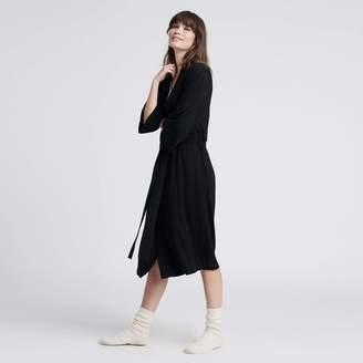 Naadam Summer Silk Cashmere Robe Black