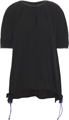 Marni Asymmetric Gathered Crepe Top