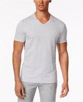 Alfani Men's Birdseye Stripe V-Neck T-Shirt, Only at Macy's