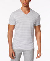 Alfani Men's Stretch Birdseye Stripe V-Neck T-Shirt, Only at Macy's