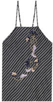 Carven Embroidered silk top