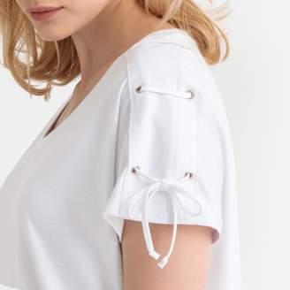 Anne Weyburn Cotton/Modal Laced T-Shirt