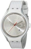Swatch Men's YES4005 Irony Analog Display Swiss Quartz White Watch