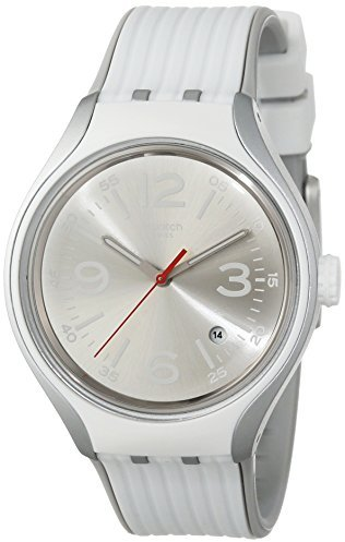 Swatch Men's YES4005 Irony Analog Display Swiss Quartz White Watch