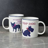Crate & Barrel Dog Mugs, Set of 2
