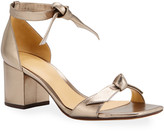 Alexandre Birman Clarita Metallic Ankle-Tie Sandals