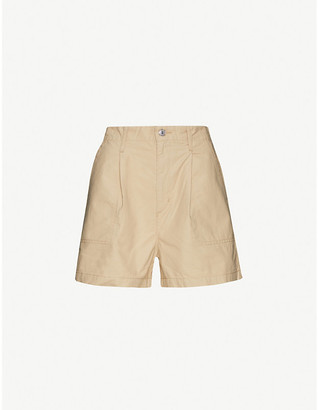 Levi's Pleated Utility high-rise cotton shorts