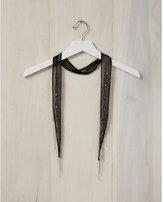 Express chan luu black chiffon embroidered skinny scarf