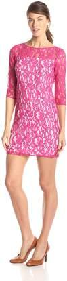 Sandra Darren Women's Elbow Sleeve Lace Dress
